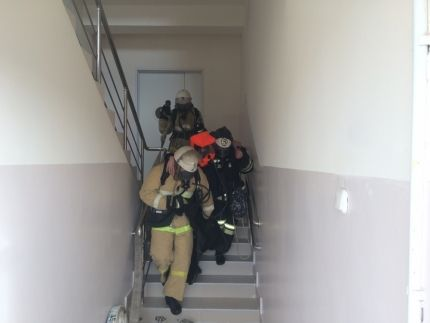 В грозненской больнице потушили условный пожар и спасли «пострадавших»
