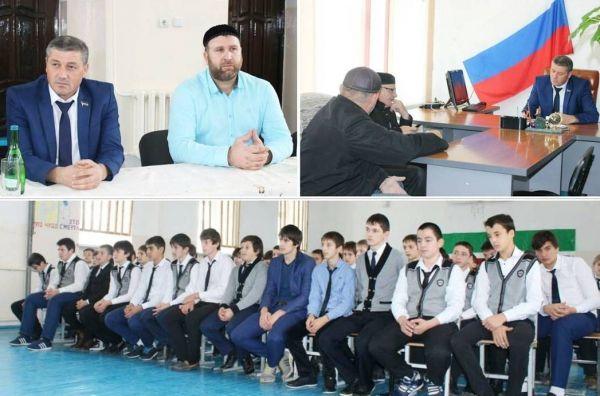 Депутаты встретились со школьниками с. Серноводское