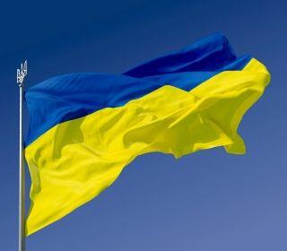 На фото: Флаг Украины