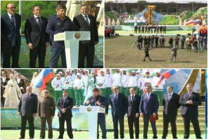 Р. Кадыров принял участие в открытии VII Кавказских игр в Ингушетии