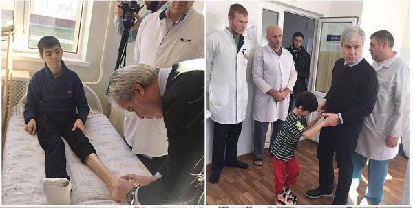 Доктор Турхан Озлер посетил Республиканскую детскую клиническую больницу ЧР