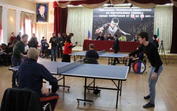 В Грозном провели открытый любительский чемпионат ЧР по настольному теннису