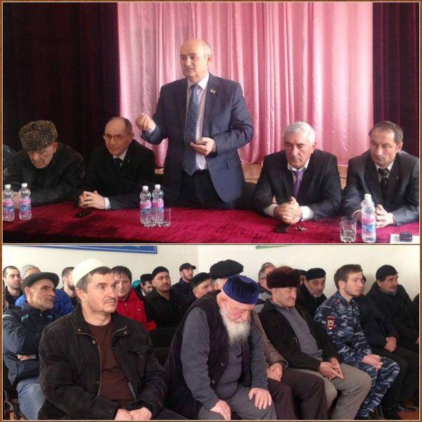 Чеченский депутат встретился с жителями с. Пролетарское