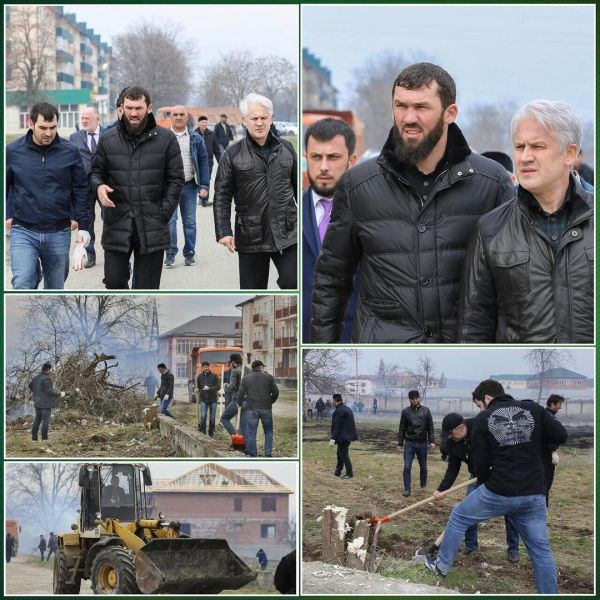 Магомед Даудов проинспектировал ход санитарных работ