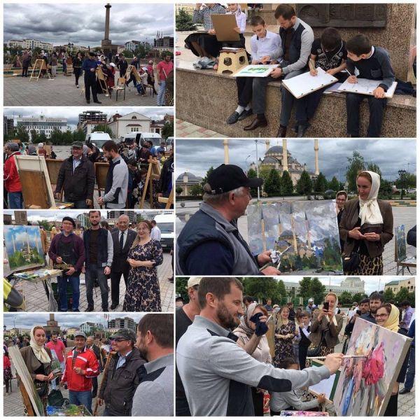 Российские художники дали мастер-класс для учеников художественных школ ЧР
