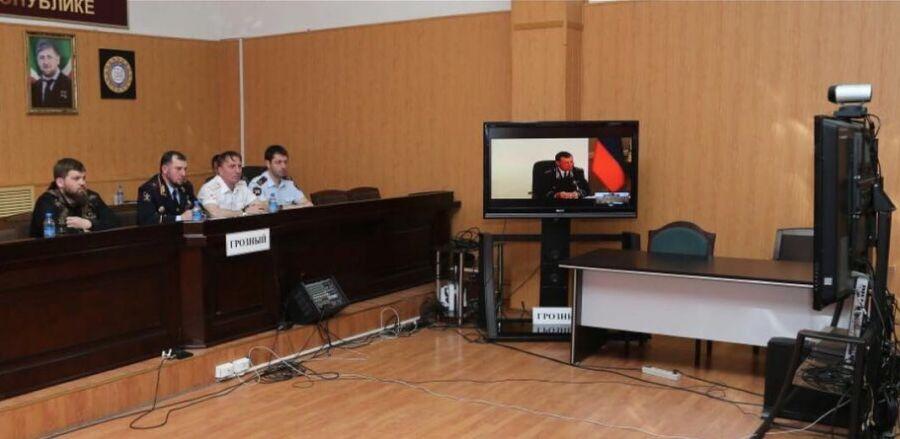 Сотрудники МВД по ЧР приняли участие в заседании оперштаба МВД РФ по профилактике правонарушений