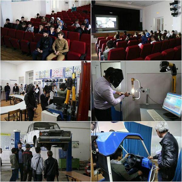 Учащимся грозненских школ провели экскурсию в технологическом техникуме