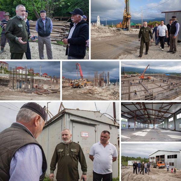 Руководитель «Чеченэнерго» проинспектировал ряд строительных объектов в Беное