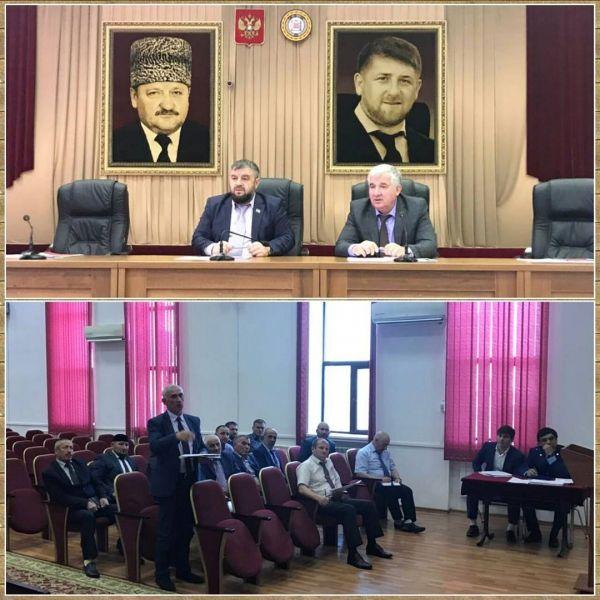 Депутат Парламента ЧР провёл совещание с активом Курчалоевского района