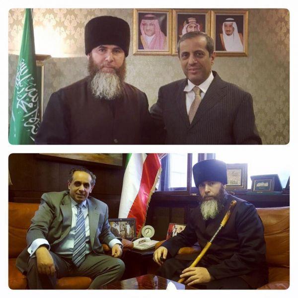 Муфтий Чечни встретился с послами Саудовской Аравии и Кувейта