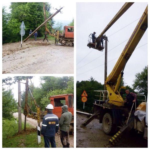 В селе Хажи-Эвла заменили опору электроснабжения