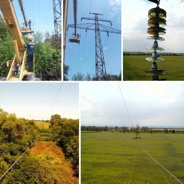 В Наурском районе меняют битые изоляторы