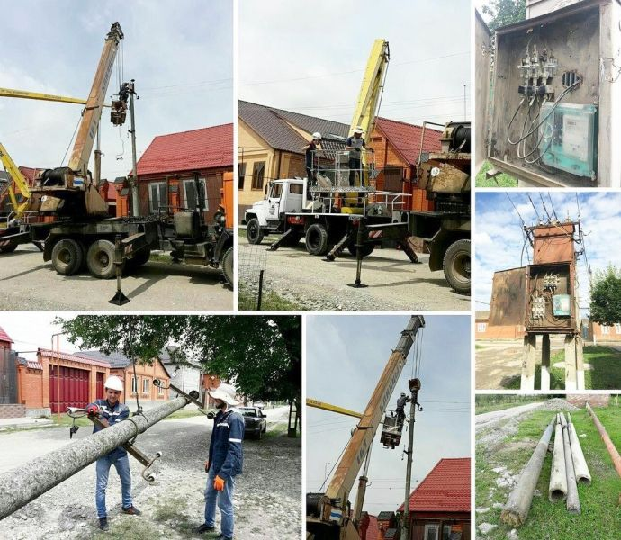В Ачхой-Мартановском районе проводятся ремонтные работы электросетей