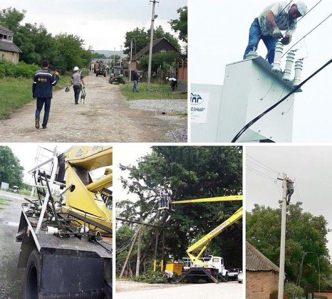 В Ачхой-Мартановском районе проводят ремонт объектов электросетевого комплекса