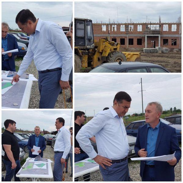 Президент Федерации кикбоксинга ЧР проинспектировал строительство спорткомплекса «Вайнах»