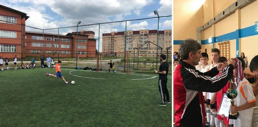 Команда чеченских школьников победила в окружном этапе Всероссийских соревнований по мини-футболу