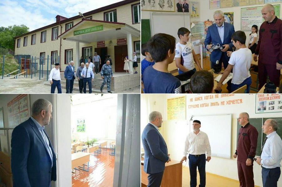 Исмаил Байханов посетил школы Ножай-Юртовского района