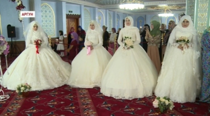 В Аргуне прошли свадьбы, прирученные к победе Р.Кадырова на выборах