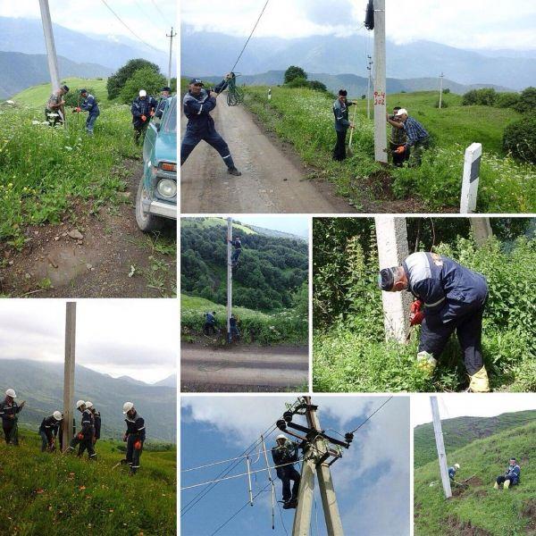 В Итум-Калинском и Шаройском районе повышают надежность и качество электроснабжения
