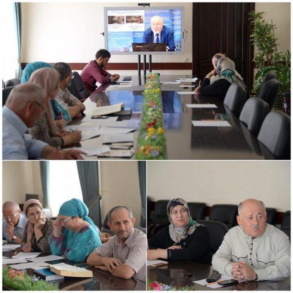 Сотрудники Минобрнауки ЧР приняли участие в видеоконференции федерального ведомства