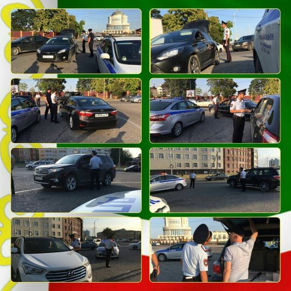 За сутки в Грозном на штрафстоянку доставлено 50 автомашин
