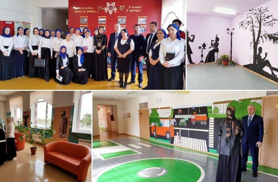 Исмаил Байханов посетил новые образовательные учреждения в Шали