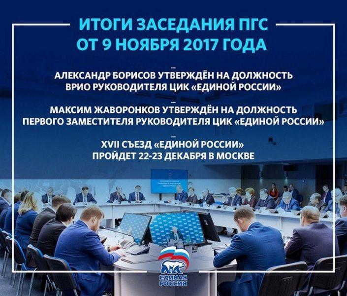 22-23 декабря пройдет XVII Съезд «Единой России»