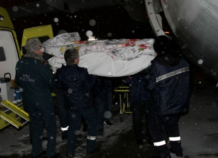 МЧС России помогло транспортировать уроженку Чечни в ожоговый центр Москвы