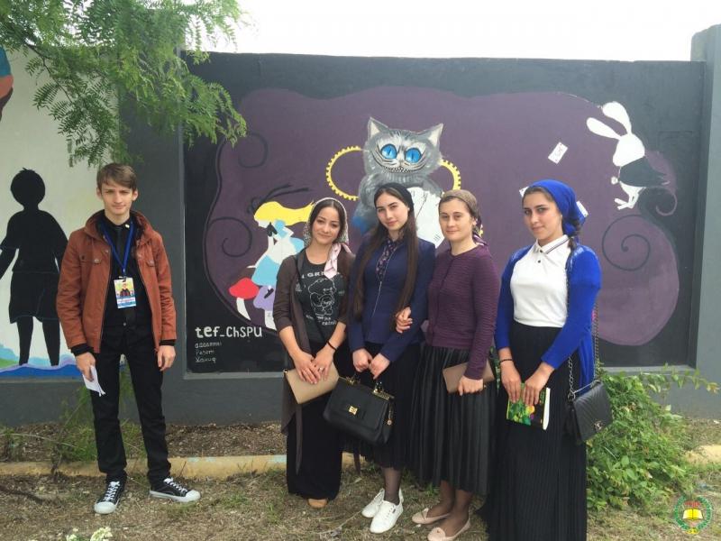 Студенты ЧГПУ присоединились к проекту «Грозный в цвете»