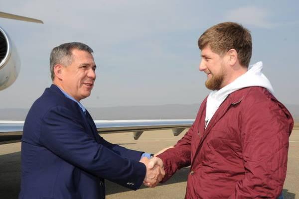 Рамзан Кадыров поздравил с днем рождения Рустама Минниханова