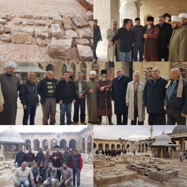 Салах Межиев совершил инспекционную поездку в мечеть Омейядов