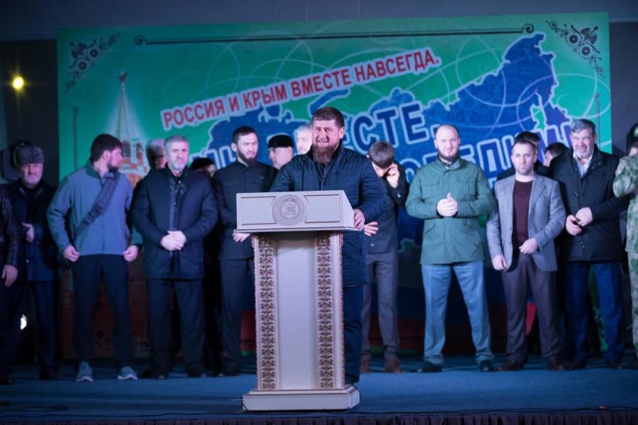 70 тыс. человек отметили годовщину присоединения Крыма в Грозном