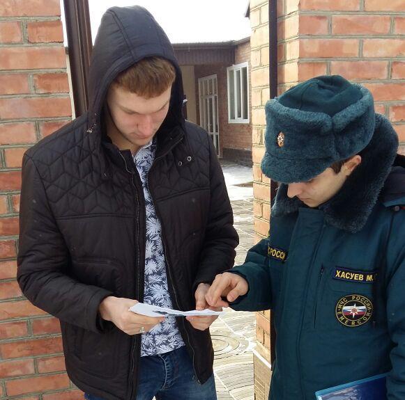 Жителей станицы Червленная проинформировали об основных причинах пожаров зимой