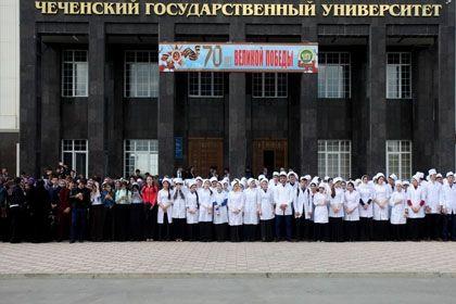 В Грозном прошел флешмоб «День победы»