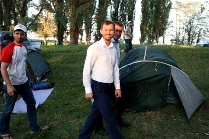 На фото: Министр Чеченской Республики по делам молодежи Хож-Бауди Дааев