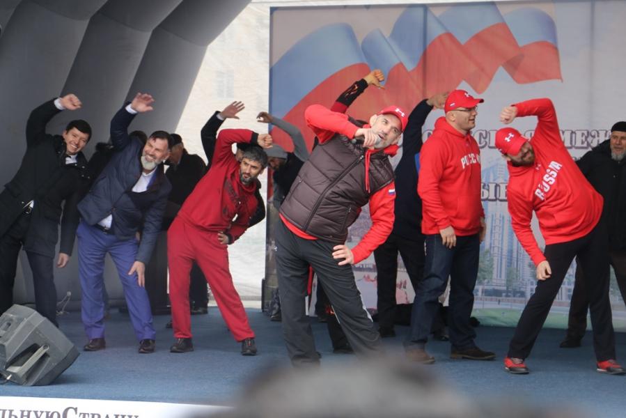 Грозный передал эстафету «Межнациональная зарядка 180318: выбор чемпионов!» Махачкале