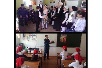 Чеченские пожарные проводят мероприятия, приуроченные 70-летию Победы
