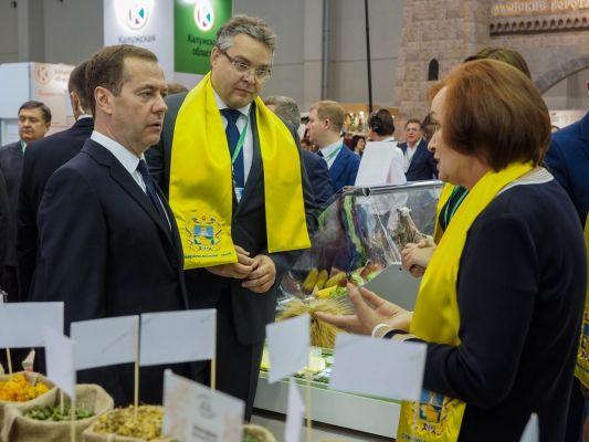 Дмитрий Медведев оценил экспортный потенциал Ставрополья, представленный на «ЗОЛОТОЙ ОСЕНИ»