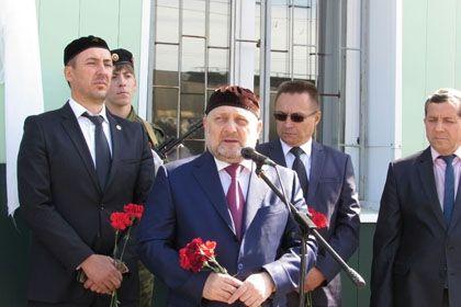 На ст.Чилеково открыли мемориальную доску памяти 255-го отдельного Чечено-Ингушского кавалерийского полка