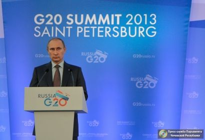На фото: Президент РФ В.В. Путин