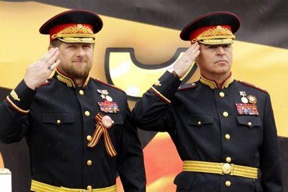 В ходе парада в Грозном воспроизвели водружение Знамени Победы над Рейхстагом