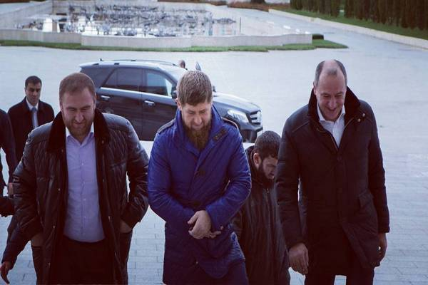 Р. Кадыров принял у себя Рашида Темрезова и Рауфа Арашукова