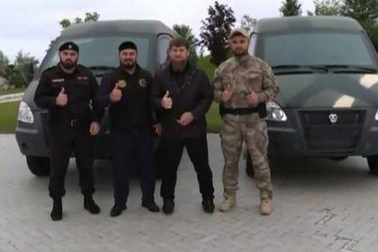 Р. Кадыров передал спецтехнику командирам двух подразделений МВД по Чеченской Республике
