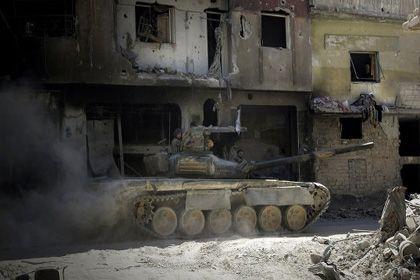 На фото: Сирийский танк
