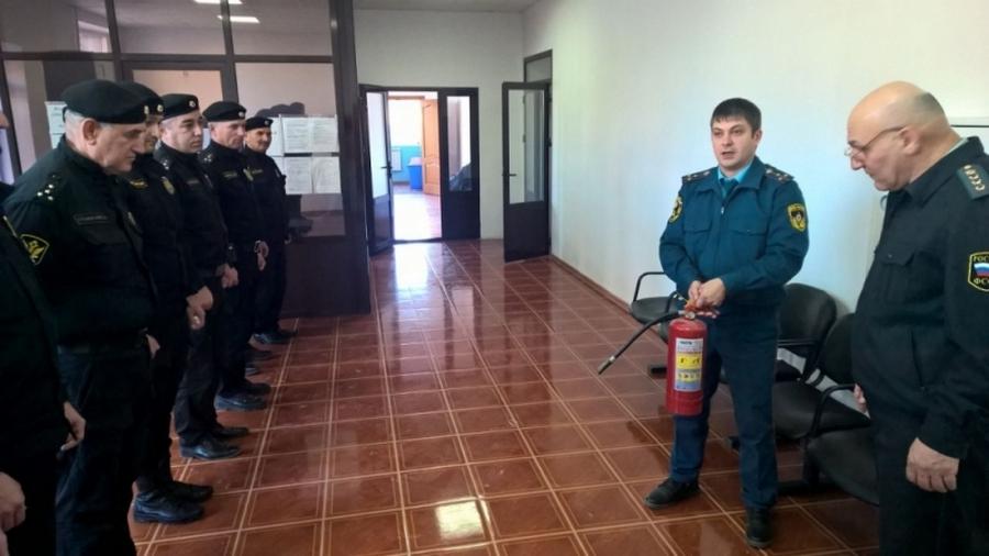 Судебные приставы Чечни проходят противопожарные инструктажи