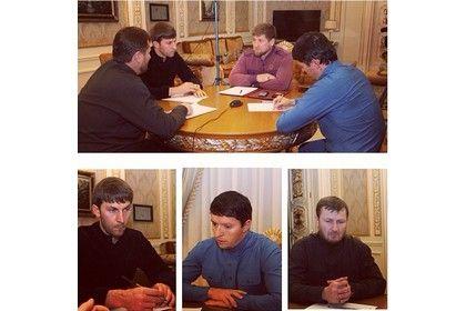 На фото: Р. Кадыров на встрече с делегацией