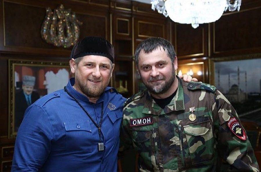 Глава Чечни поздравил с днем рождения командира ОМОН УФСВНГ РФ по ЧР