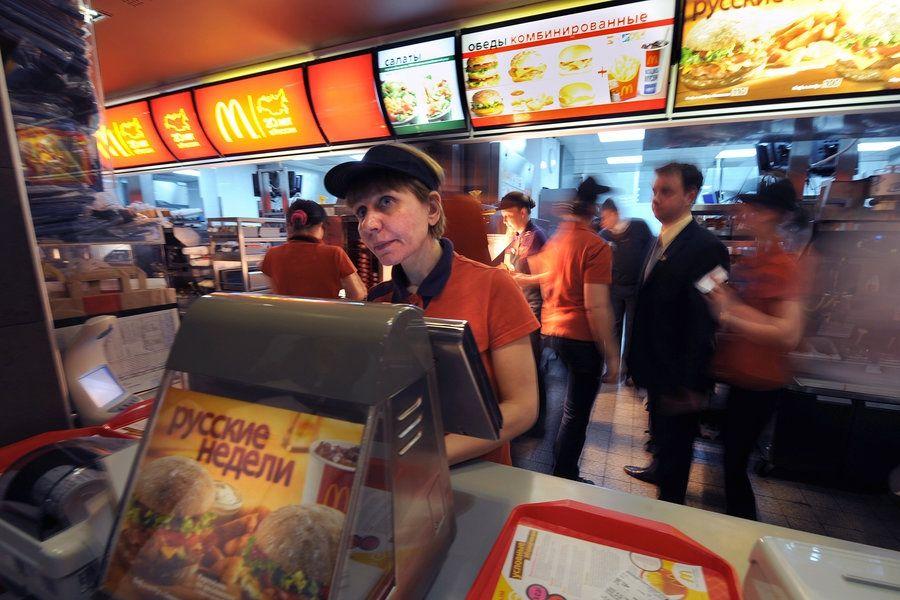 В русском McDonald's появились официанты