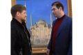 Р. Кадыров получил в подарок картину «Сердце Чечни»