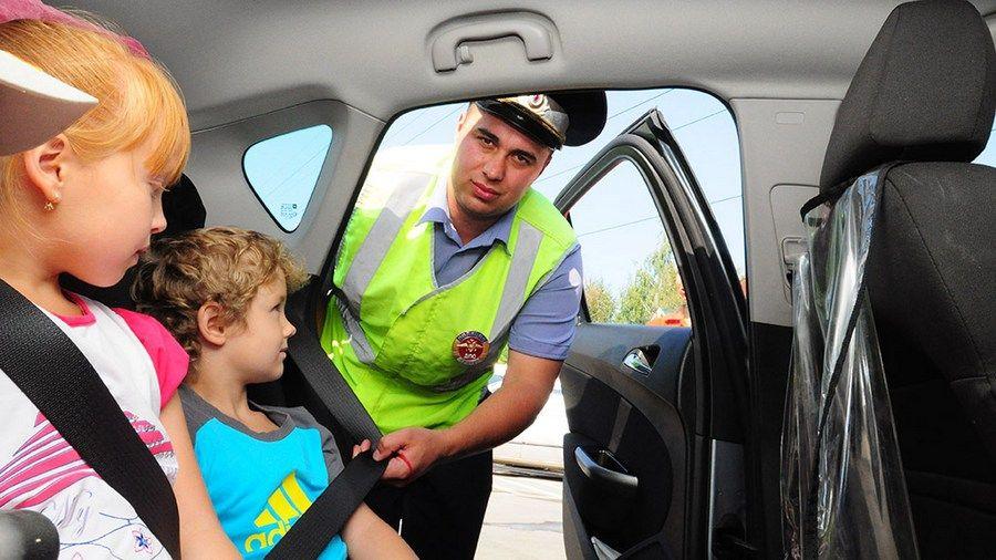 Водителям напомнили о необходимости соблюдения правил безопасной перевозки детей